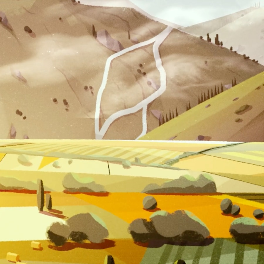 Finished frame from European Commision Climate Change Animation - 1