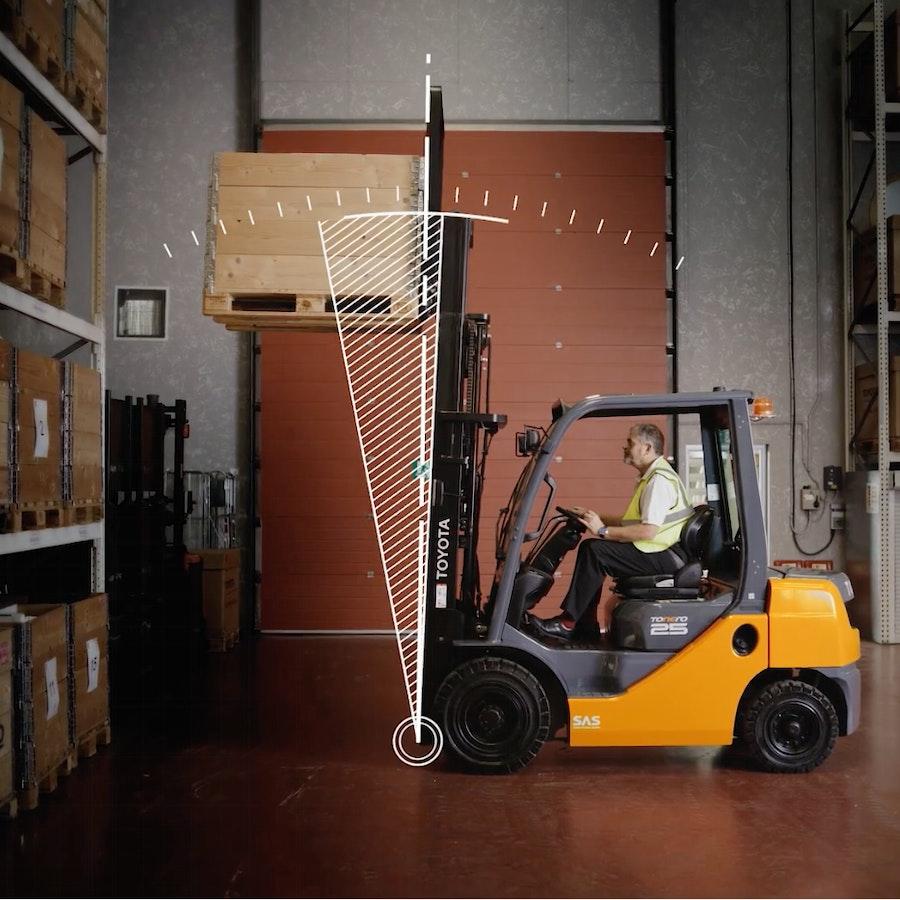 Toyota Material Handling Traigo truck in warehouse environment