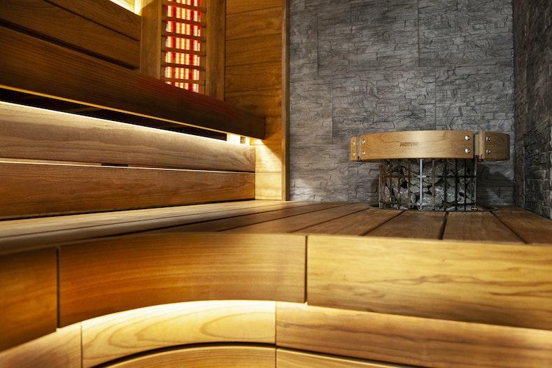 Harvia Block bench model, heat-treated aspen