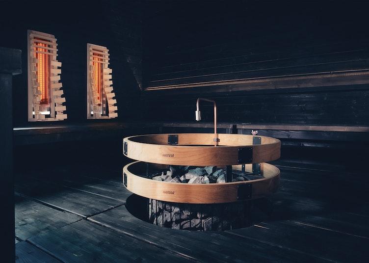 Harvia hybrid sauna with a Legend heater