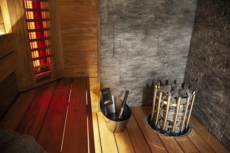 Harvia hybrid sauna with Glow heater