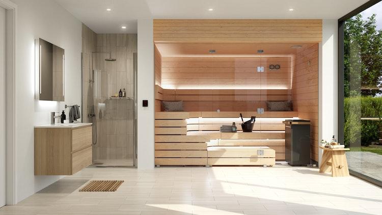 Harvia Block Sauna with Virta electric heater