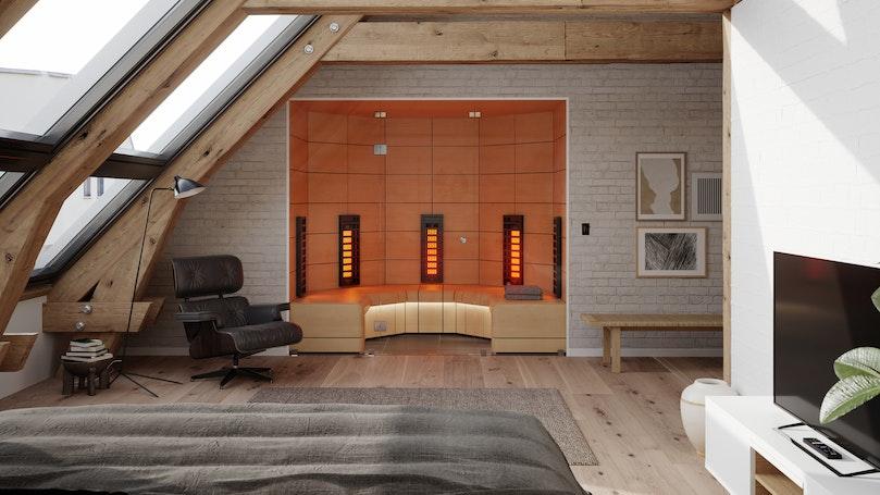 Harvia Ventura Infrared Sauna Bedroom interior