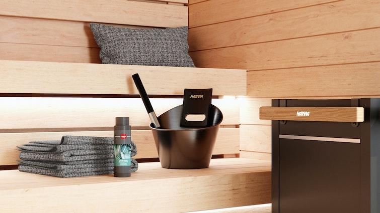 Harvia Sauna Accessories, bucket, scent, padle