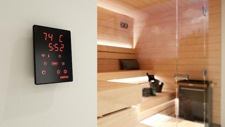 Harvia Xenio WiFi Control panel close up