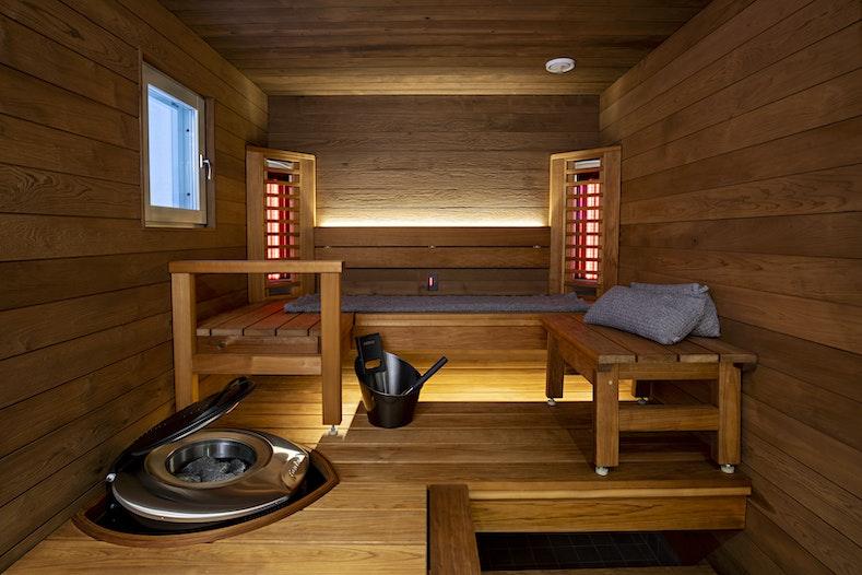 Harvia hybrid sauna infrared panels forte heater