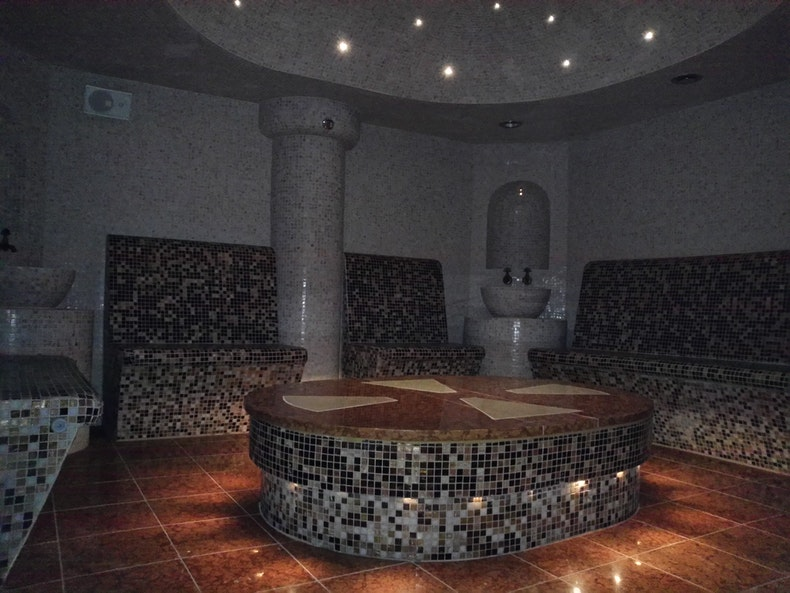 Harvia steam room reference image