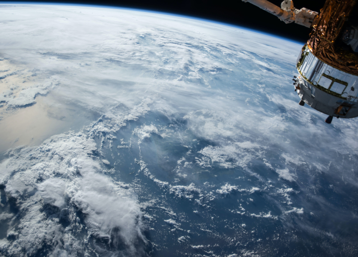 A photo of ocean clouds seen from space