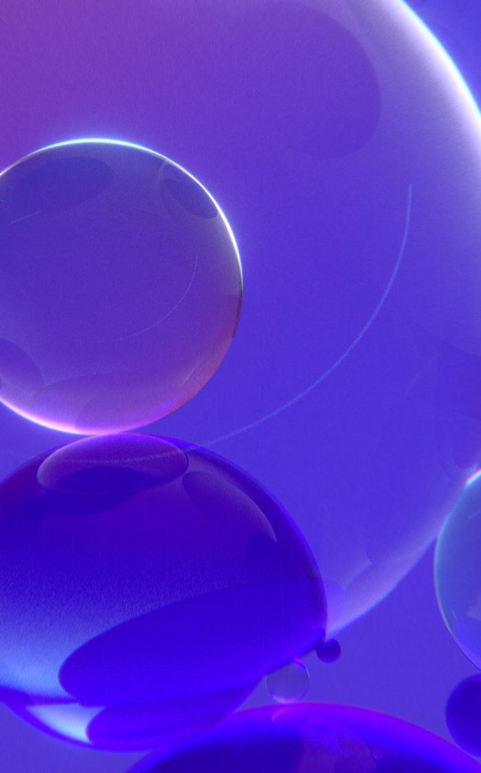 An artistic 3D render of bubbles and liquid