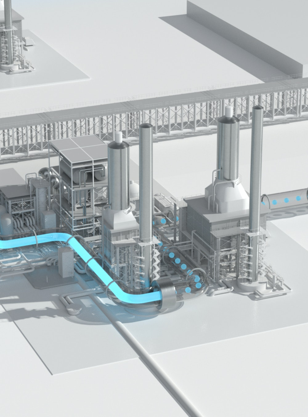 A crop of a rendering of the Nacero gasoline manufacturing process