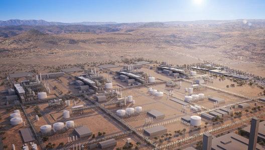 A photo-realistic rendering of the future Nacero facility in Kingman, AZ