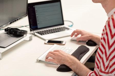 Hand desk typing