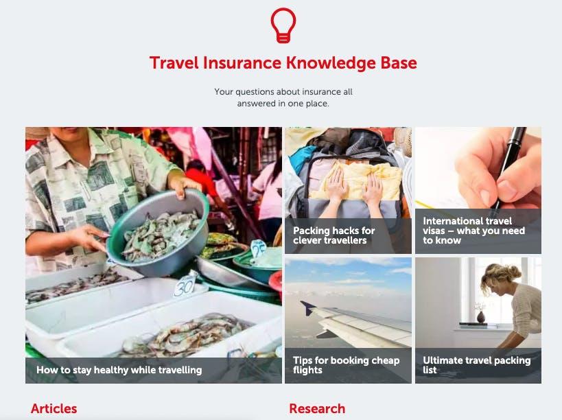 UX Writing - Travel Insurance Portal