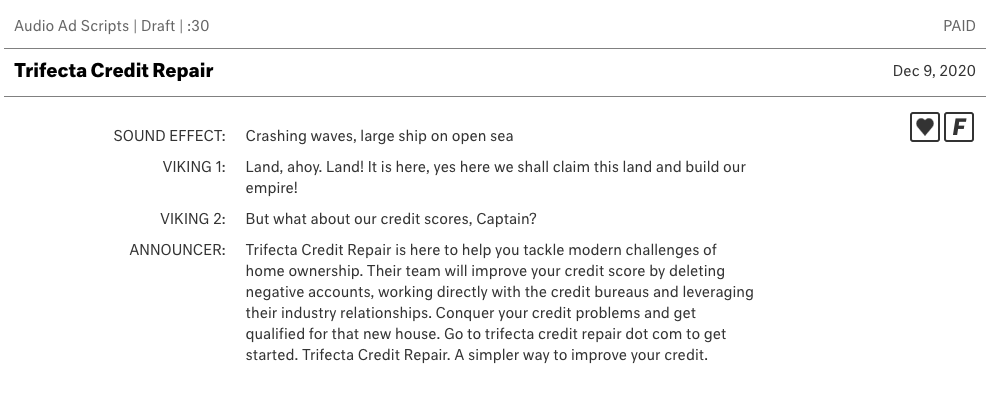 Credit Repair Script