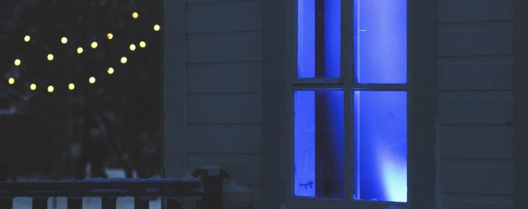 house at night