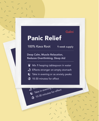 Panic Relief supplement containing Kava Kava root