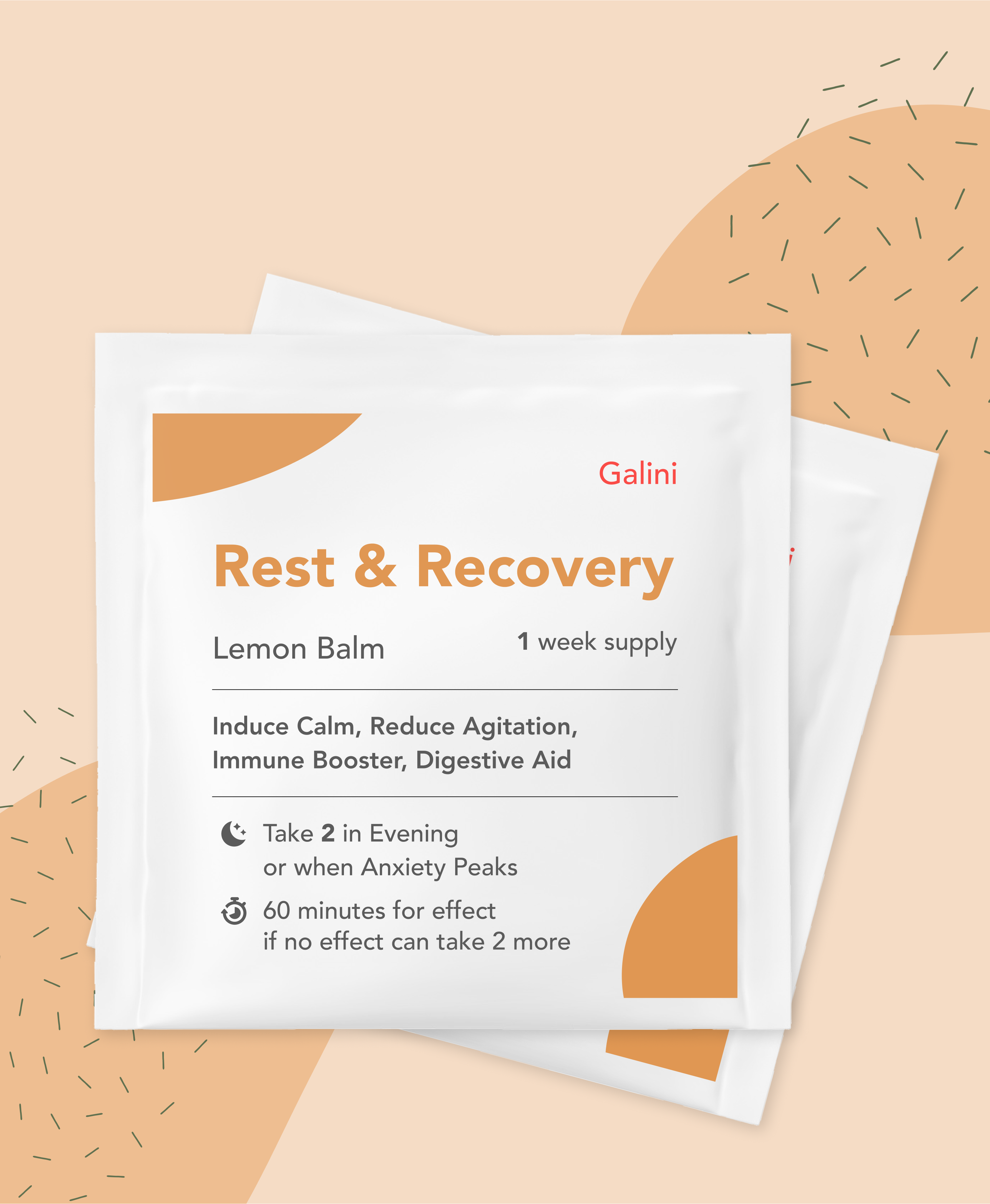 Rest and Recovery supplement containing Lemon Balm
