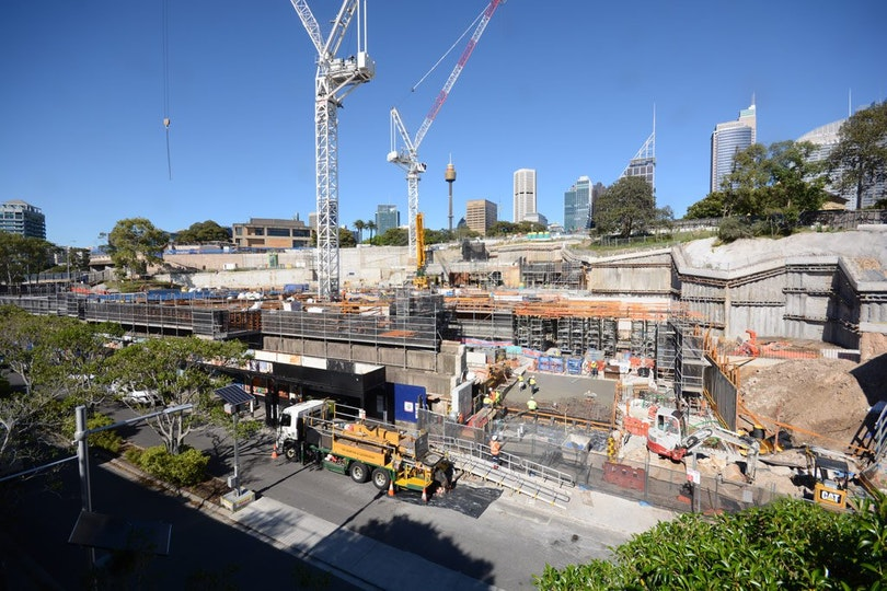 Construction of the Sydney Modern Project