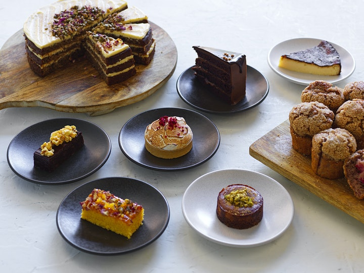 Home-baked pastries and cakes