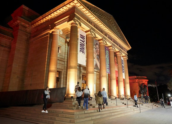 The Art Gallery of NSW at night