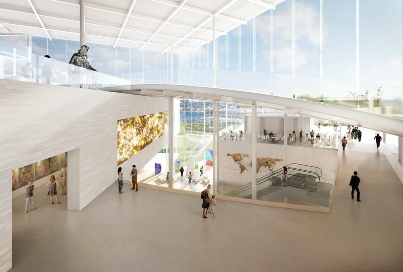 Image of an internal Gallery in the Sydney Modern Project