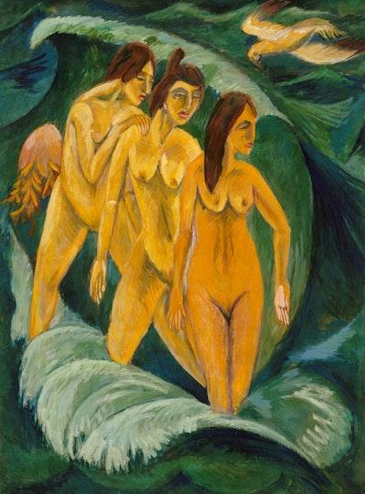 Ernst Ludwig Kirchner, Three bathers 1913