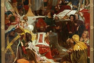 Ford Madox Brown, Chaucer at the court of Edward III 1847—1851