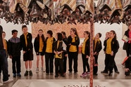 Students from Hilltop Road Public School, Merrylands visit the Art Gallery of NSW for Art Pathways