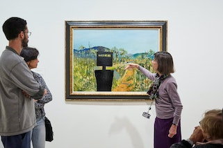 Guide Jackie De takes visitors on a Collection Highlights tour throughout the AGNSW.