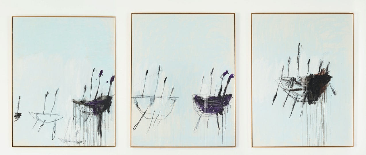 Cy Twombly, Three studies from the Temeraire