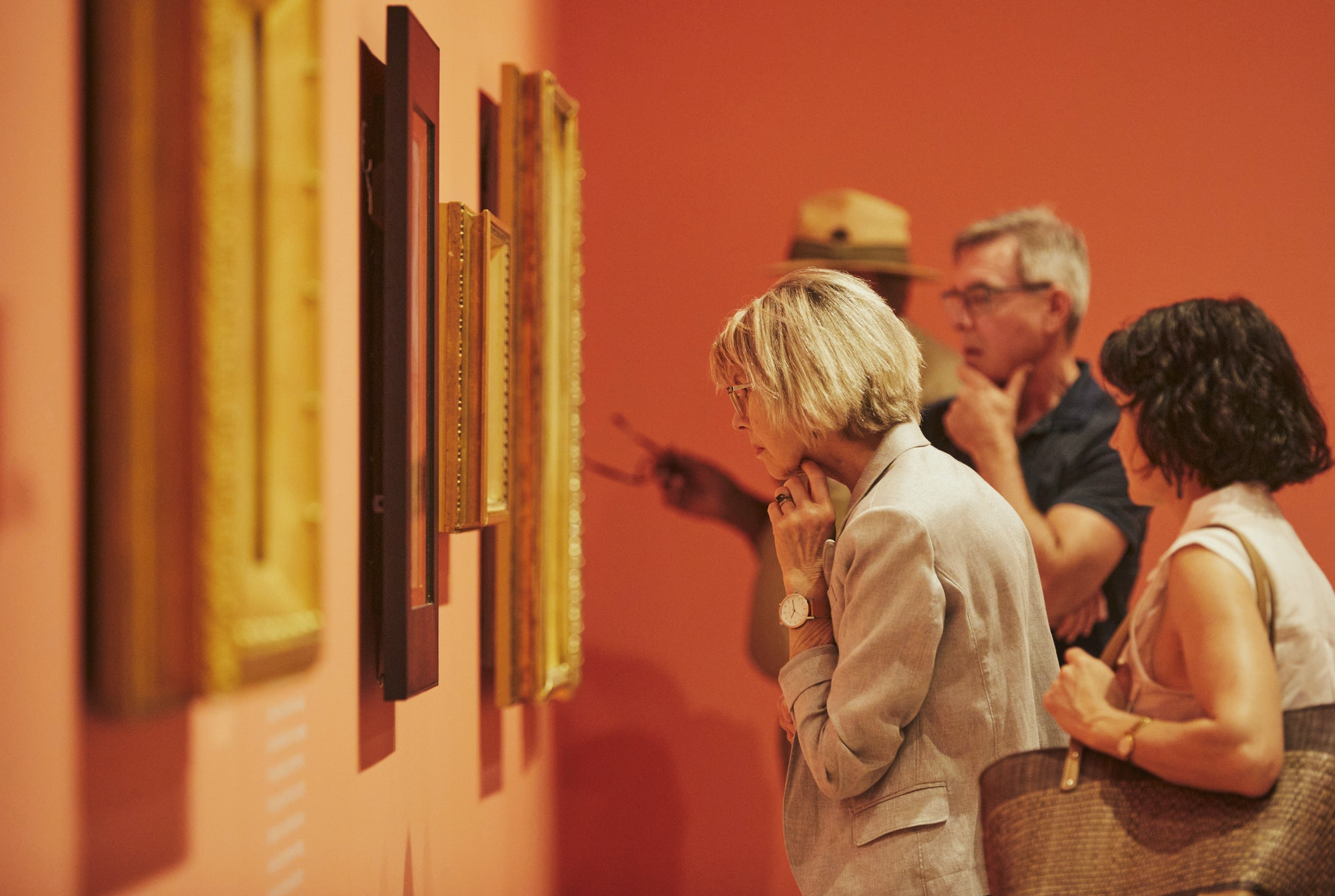 Members exhibition viewing of Streeton 2020. Photo Felicity Jenkins