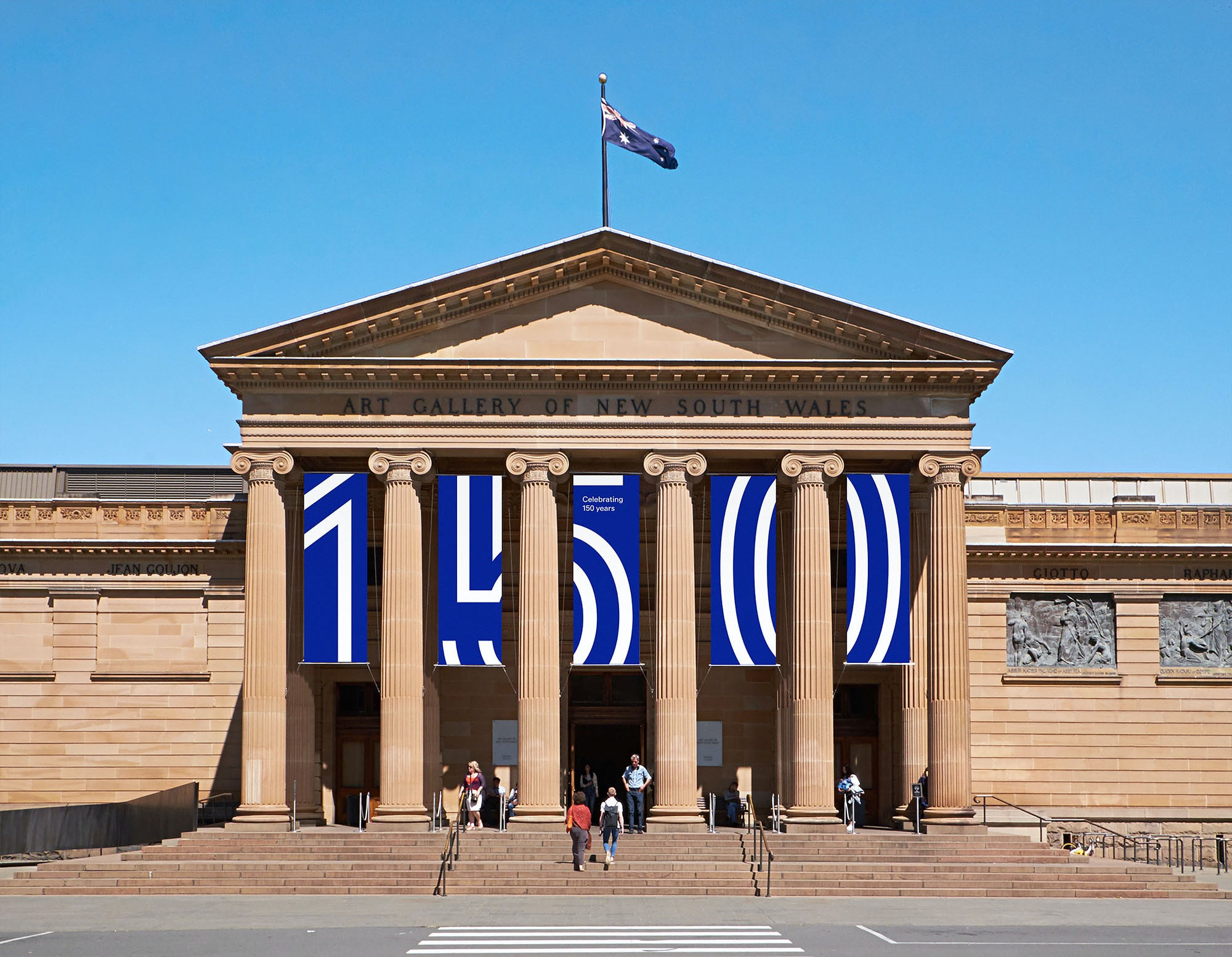 The Art Gallery of NSW 150th anniversary banners
