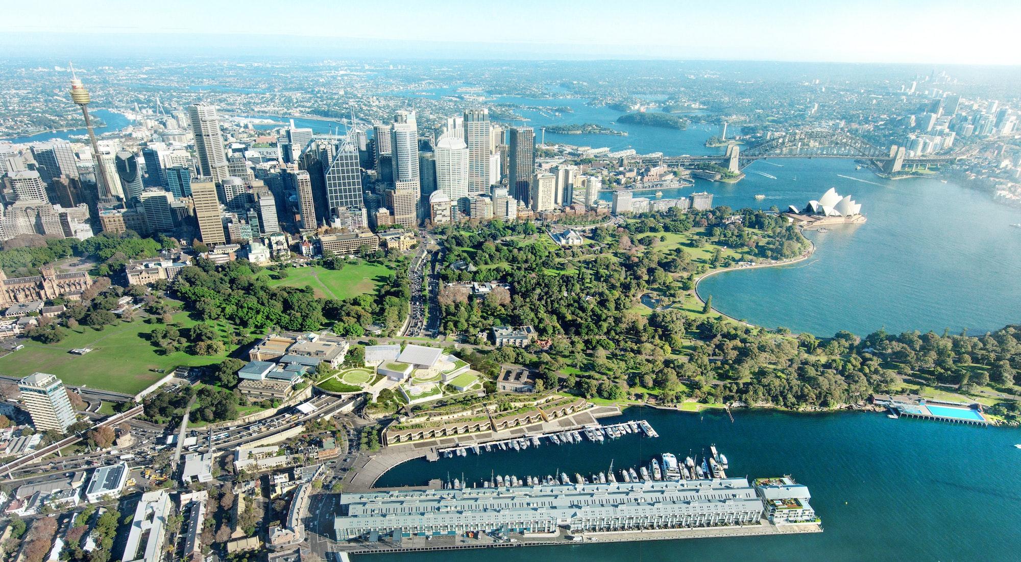 Aerial shot of Sydney Modern site