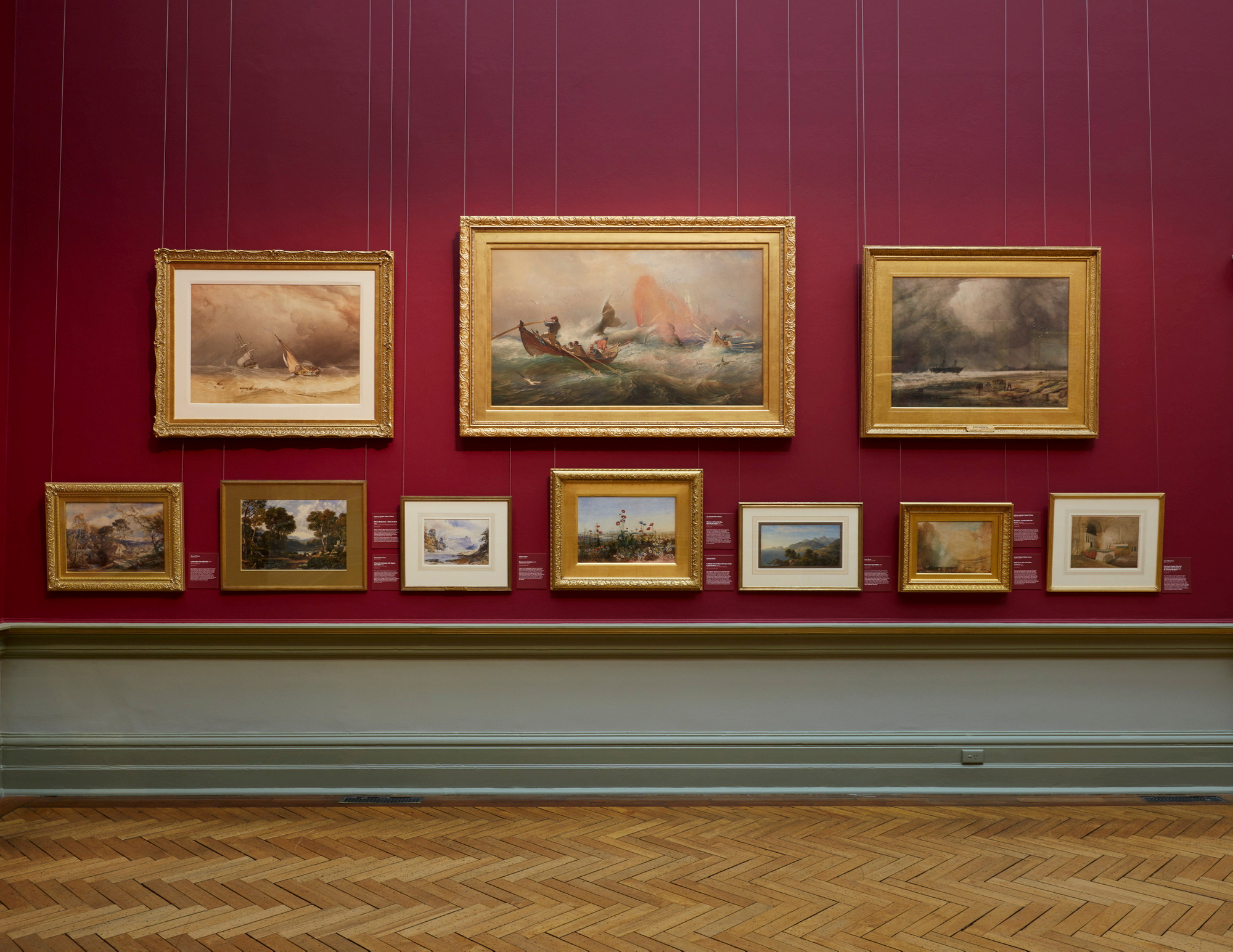 19th-century watercolours from the Gallery's collection on display in the Grand Courts
