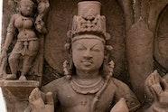 Stele with 'yaksha-yakshini' couple and Jinas 10th century