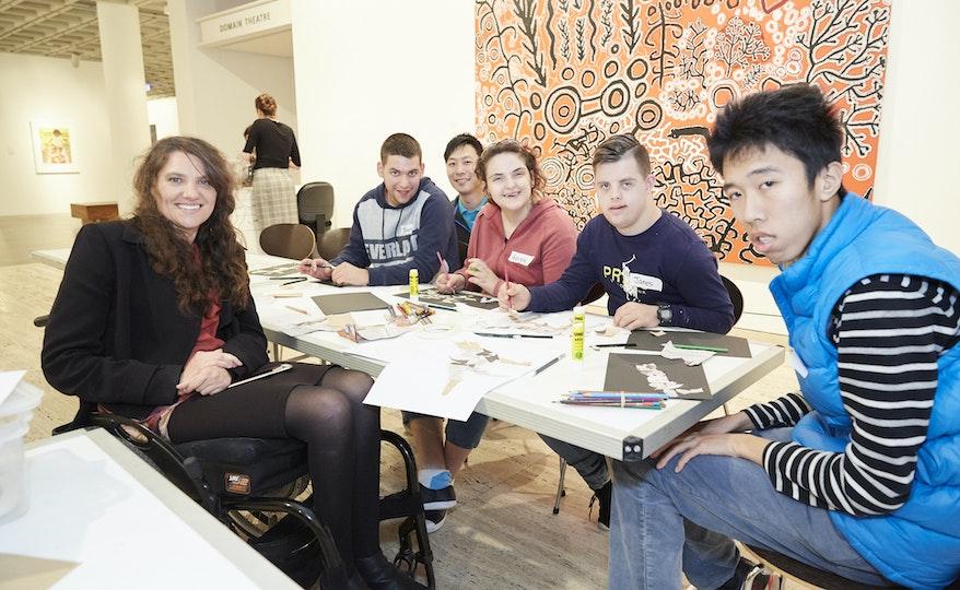 Access workshop led by artist Cobie Ann Moore