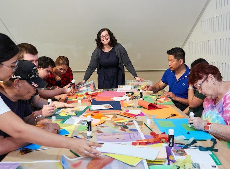 Access workshop led by artist Kate Burton