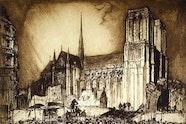 Sir Frank Brangwyn Notre Dame, Paris 1914