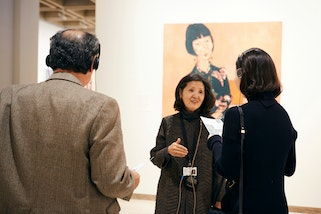 Korean-language guided tour of Archibald, Wynne and Sulman Prizes
