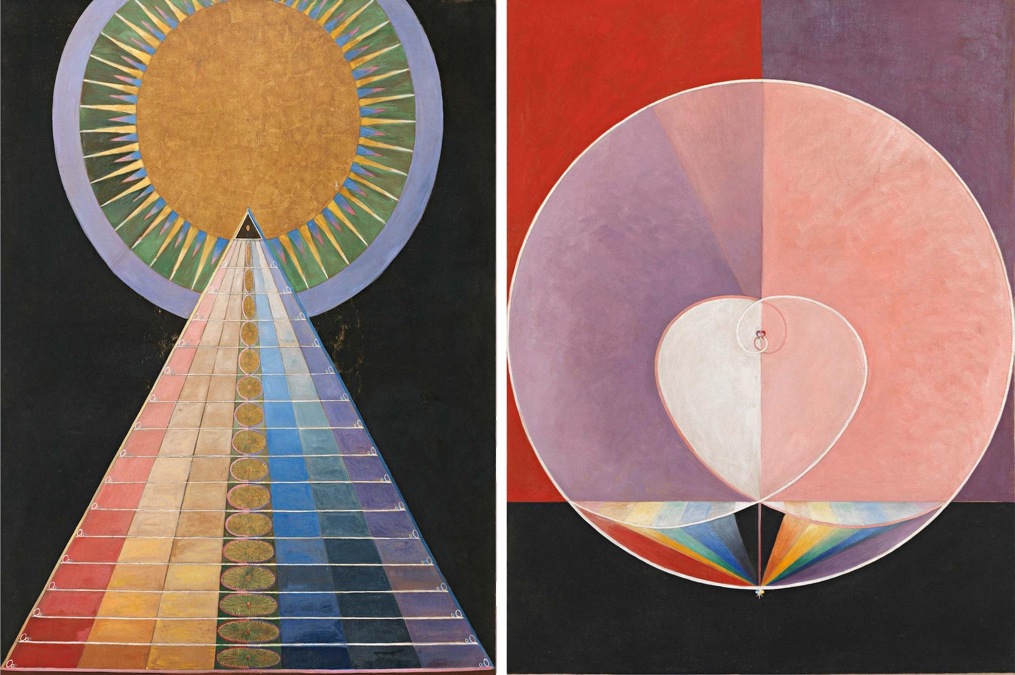 Hilma exhibition artworks