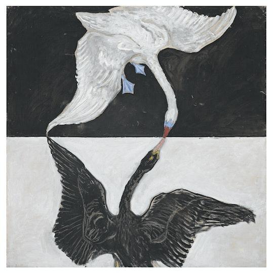 Hilma af Klint (Sweden 1862–1944) Group IX/SUW, The swan, no 1 1914–15 oil on canvas, 150 x 150 cm. Courtesy of the Hilma af Klint Foundation HaK149. Photo: The Moderna Museet, Stockholm, Sweden 79114
