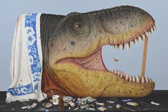 Sulman Prize Winner 2014, Andrew Sullivan  T-rex (tyrant lizard king)  © the artist