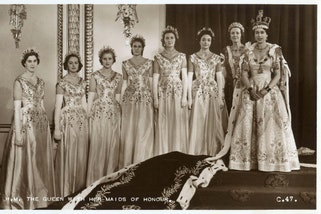 The Coronation of Queen Elizabeth II on 2nd June,1953 and her Maids of Honour