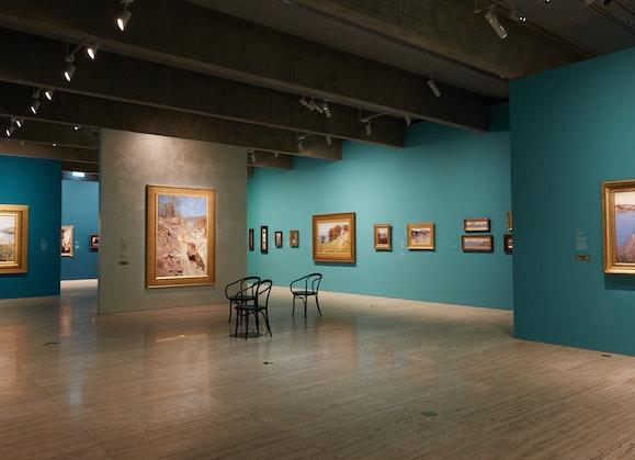 Streeton exhibition view