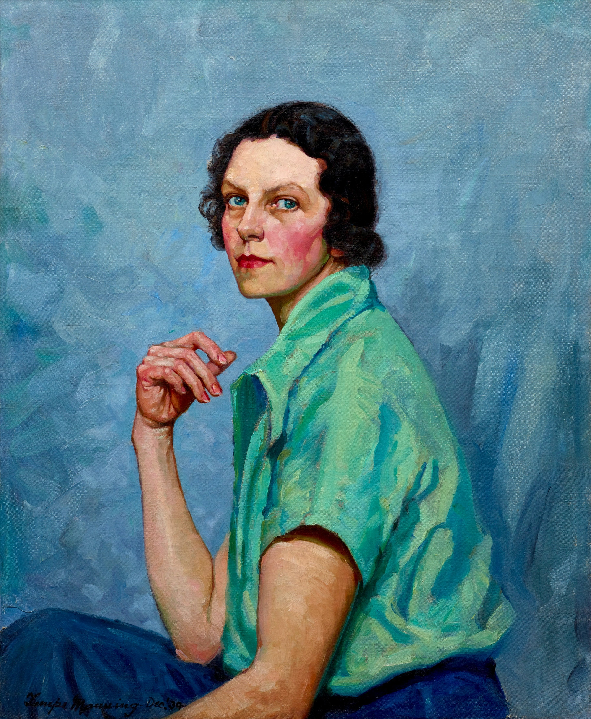 Tempe Manning Self portrait 1939. Private collection. © Estate of Tempe Manning