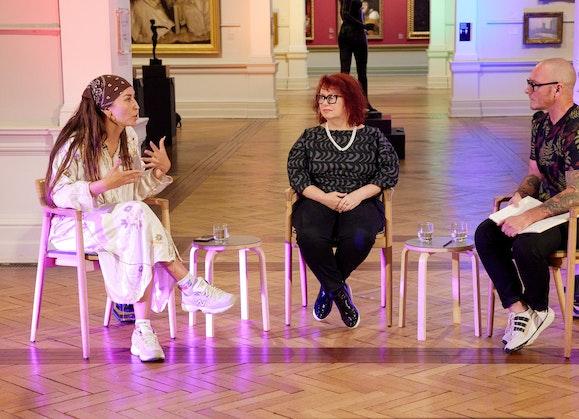 Deborah Kelly and Bhenji Ra in conversation with Eddie Ayers, In the frame series.