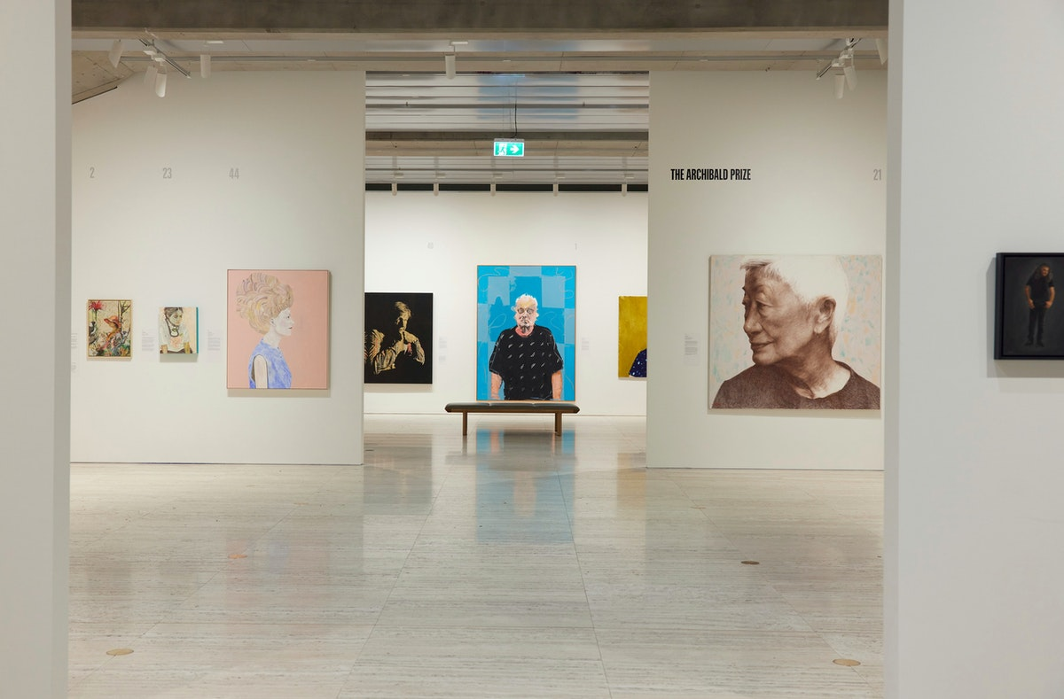 Exhibition view of the 2021 Archibald Prize