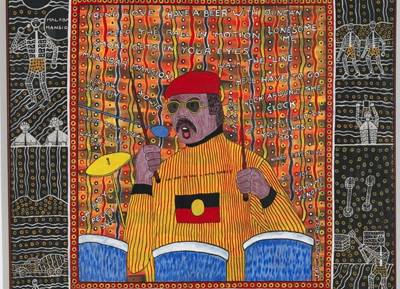 Robert Campbell Junior 'My Brother Mac Silva' 1989, National Gallery of Australia, Canberra, purchased 2000 © the artist's estate