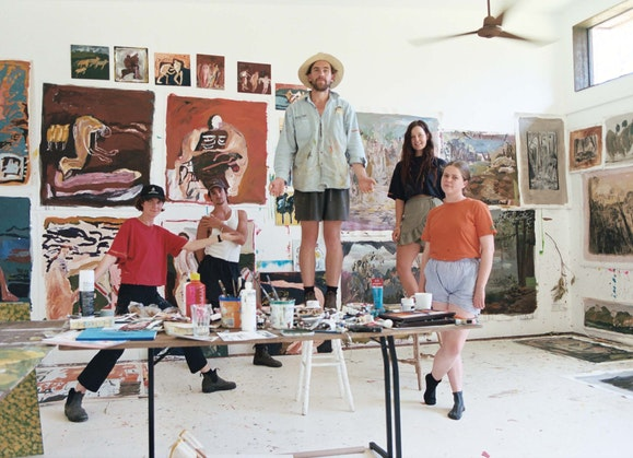Brett Whiteley Travelling Art Scholarship 2020 residency at Shark Island Institute Kangaroo Valley