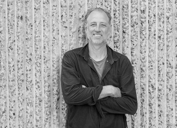 Black and white portrait of Matt Cox
